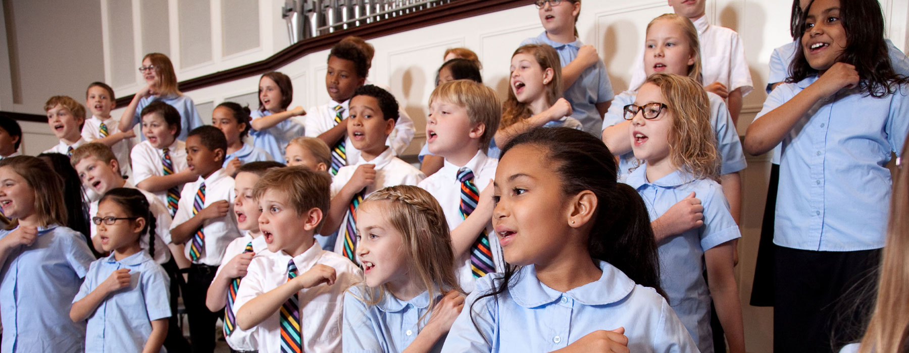 children's choir performing